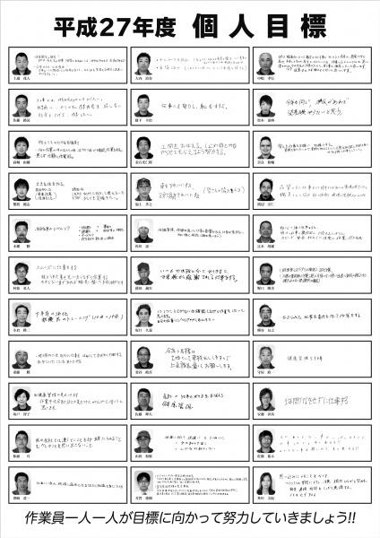 和田工務店様目標シート2015